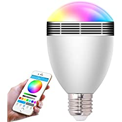 HHX di alta qualità Bluetooth 4.0 colore LED lampadine, sette colori Smart lampadina con altoparlante, App dimmerabile lampadina decorativa per iPhone e smartphone Android