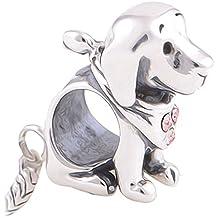 Labrador Puppy perro Charm Bead–Plata de ley 925–para pandora Chamilia Troll y Beads Pulseras–Regalo del paquete