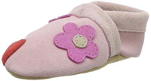 Haflinger Herzblüte, Chaussons pour enfant bébé fille Pink (babyrosa)