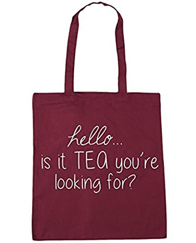 HippoWarehouse Hello is it Tea You're Looking For? Tote Shopping