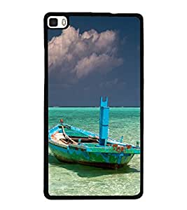 Vizagbeats Green Boat and beach Back Case Cover for HUAWEI HONOR P8
