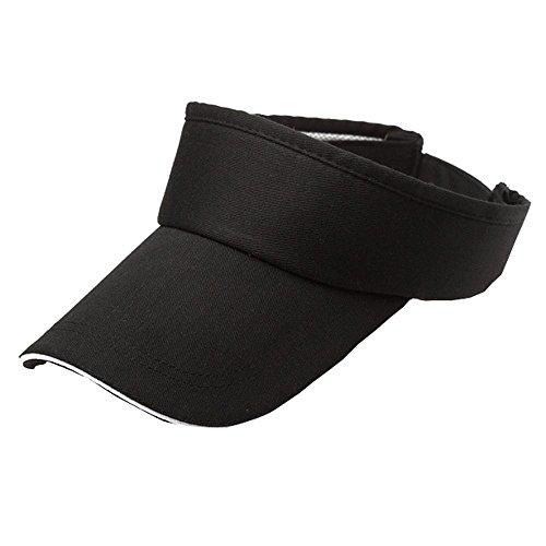 DOLDOA Hut Damen Sommer,Männer Frauen Sommer Visier Sun Plain Hat Cap (Schwarz)