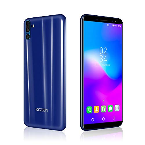 Xgody SIM Free Mobile Phones, Y28 Android 7.0, Dual SIM Unlocked Smartphone 6 Inch 2500mAh 5MP+5MP Dual Cameras BT GPS 3G Mobile Phone (Blue) Dual-sim-dual-band-tv