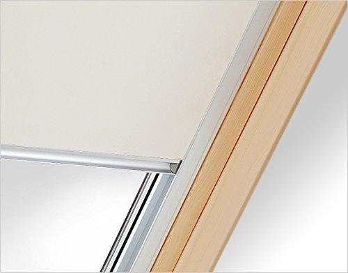 Verdunkelungsrollo RUR M6A weiß Innenrollo mit 100{52b6c28cf6393801f4c2532bbbf28a6dc0c98bd871e15c805d5bd7088084057d}iger Verdunkelungswirkung 60 cm breit für Dachfenster Größe M6A 78 x 118 cm
