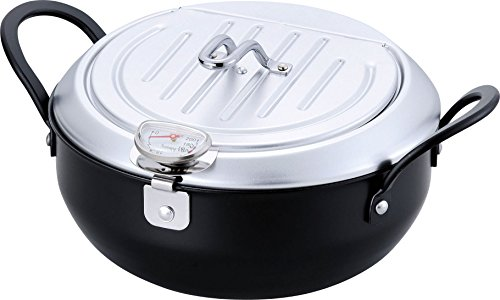 Comolife Useful Tempura Pot Fryer With Lid , Made in Japan , Size : 11.15x8.97x5.14 , Diameter 7.8 (in)