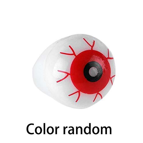 laonBonnie Halloween Innovative Augen Leuchtenden Ring Terror Blink Ring Finger Licht Persönlichkeit Übertrieben Schmuck Zubehör (Blinkenden Halloween-lichter Augen)