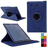 COOVY® Cover für Samsung TAB E 9.6 SM-T560 SM-T561 SM-T565 Rotation 360° Smart Hülle Tasche Etui Case Schutz Ständer | Farbe dunkelblau