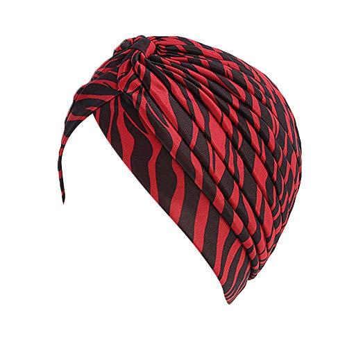 ALIKEEY Mujer Musulmana Sombrero Retro Turbante Sombrero Cabeza Bufanda Wrap Cap Unicornio Microfibra Bambu Vaquero Vaqueros Paja Gorra