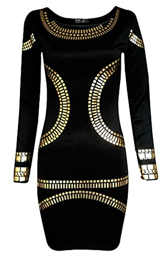 shami Women's Body Con Casual Dress 16 Black