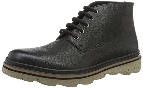 Clarks Frelan Hike, Stivaletti Uomo, Nero (Black Leather), 43 EU