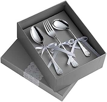Set 3 Cubiertos Osito: Cuchara, Tenedor Y Cuchara Papilla, plateado de Pedro Duran. Referencia: 02304638: Amazon.es: Hogar