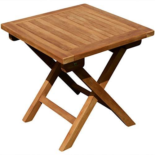 ASS Teak Klapptisch Holztisch Gartentisch Garten Tisch Beistelltisch 45x45cm Holz JAV-Picn