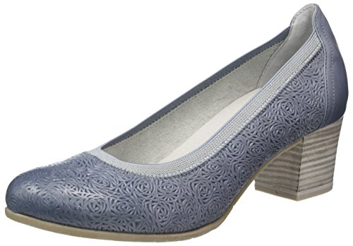 Marco Tozzi Premio Damen 22316 Pumps Blau (DENIM ANTIC 812)