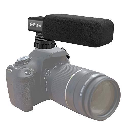 Kamera-Mikrofon, Stereo-Interviewmikrofon Shotgun Mikrofon Interview Mikrofon für DSLR-Kamera / DV-Camcorder schwarz