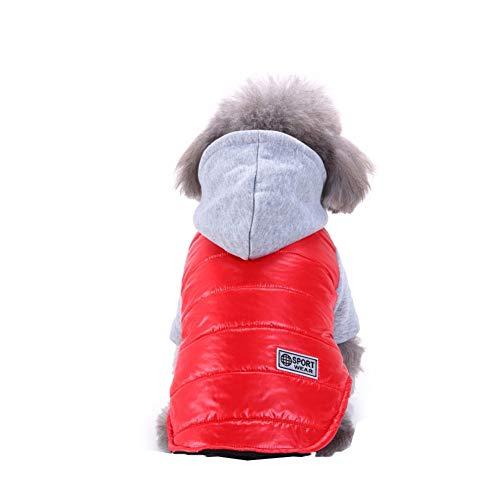 Bluelucon Haustier Hund Katze Winter Warm Rollkragen Sweatshirt Mantel KostüM Bekleidung Jacke Kleider Hoodies Jumper Zum HüNdchen Klein Mittel Groß Hunde Overall Kleidung