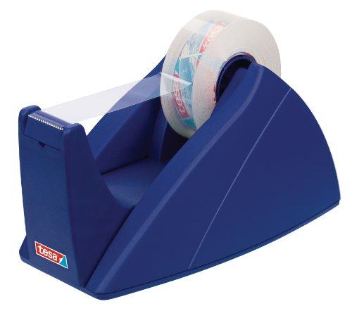 tesa Tischabroller, professionelles Modell, für kleine Rollen, blau
