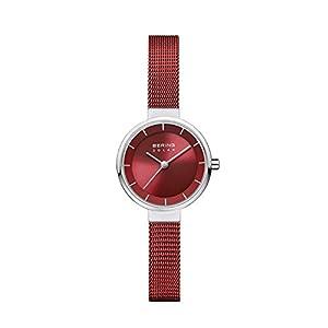 BERING Damen Analog Solar Uhr mit Edelstahl Armband 14627-303