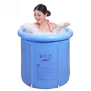 MBJZ Thick adult inflatable bath tub bucket folding children's bathtub soaking bucket plastic bucket bath,65*70cm