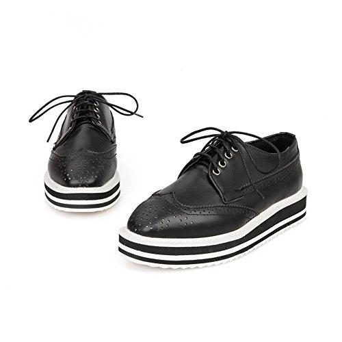 BalaMasa lacci, da donna, in pelle, punta arrotondata, pompe-Shoes Black