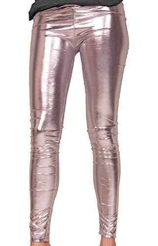 Folat 61713 - Legging Metallic, L-XL, silber -