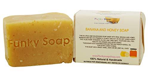 1 pc Banana & Honey dry skin Soap 100% Natural Handmade 120g100% Natural Handmade aprox.120g