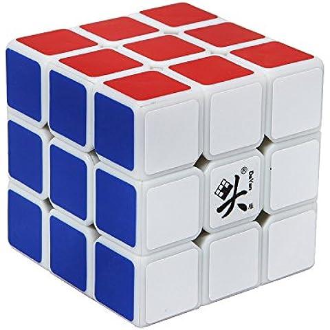 Dayan Mágico Cubo 3x3x3 Banda Blanca, Cubo Mágico de 57mm de Dayan