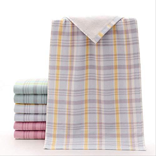 GEZHU Toallas de baño Suaves y cómodas Capa Doble de la Tela de algodón Jacquard de Hilo Suave Toalla...