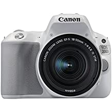 Canon Eos 200D Digital SLR Camera With Ef-S 18-55 Mm F/4-5.6 Is STM Lens - White