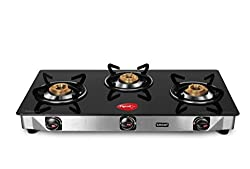 Pigeon Blackline Smart 3 Burner Glass top Gas Stove