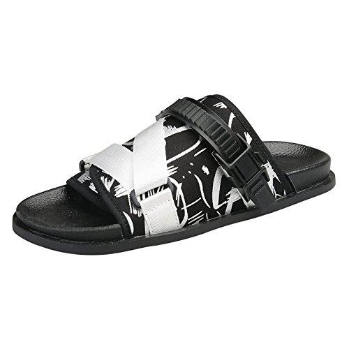 Sandales d'été, piscine, hommes sandales, chaussures de plage, sports Rome chaussons hommes gules