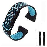 T-BLUER Compatible Garmin Fenix 3 Strap, Bracelet de Remplacement en Silicone pour Bandes de Fitness Garmin Fenix 3/3 HR/5x,Petit/Grand