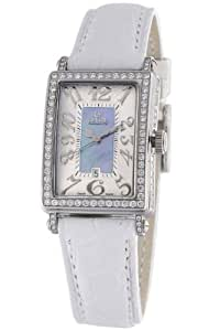 Gevril Avenue of Americas Mini Women's Quartz Watch with Mother of Pearl Dial Analogue Display and Blue Leather Strap 7247NV