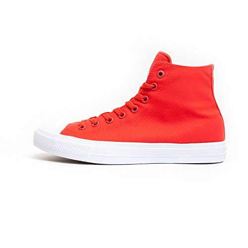 Converse CT As II Hi Neon Chuck Taylor All Star II, Baskets Montantes Pointure 41,5, Rouge/Blanc