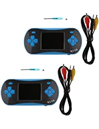 Tradico® 2pcs RS-16 2.5'' TFT Built In 260 Classic Game Handheld Game Console Player