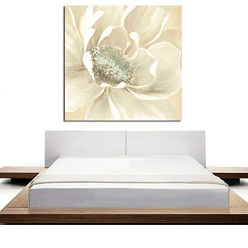 RQMQRL Druck Minimalistischen Weißen Künstler Orchidee Abstraktes Ölgemälde Auf Leinwand Poster Pop Kunst Wand Bild Für Wohnzimmer Dekor -