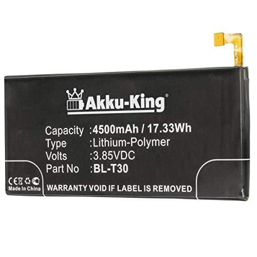 Akku-King Akku kompatibel mit LG BL-T30 - Li-Polymer 4500mAh - für LG K10, Fiesta, X Allumage 2, X Charge, X Power 2, L63BL, L64VL, M320, M320DSN, M320F