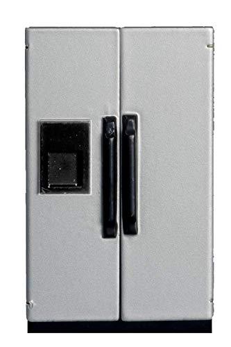 Puppenhaus Miniatur 1:12 Maßstab Kühlschrank Küchen Möbel silberner Kühlschrank Gefrierschrank 4 (1 12 Kühlschrank Maßstab)