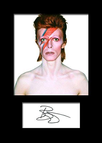 Foto firmada de David Bowie (tamaño A5)