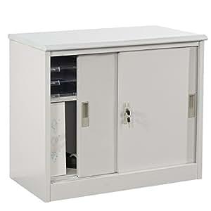 armoire acier boston t241 meuble classeur 80x69x42cm portes coulissantes cuisine. Black Bedroom Furniture Sets. Home Design Ideas