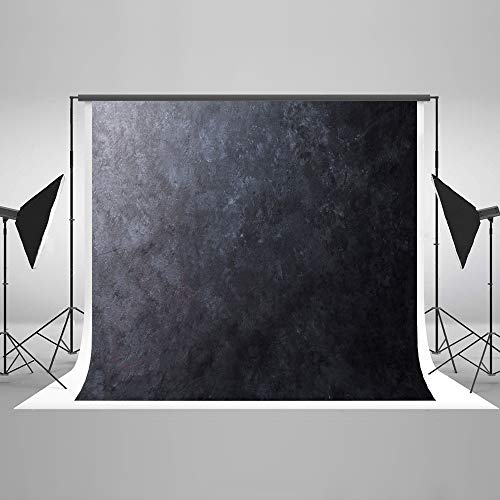 KateHome PHOTOSTUDIOS 3x2m Dark Gary Hintergründe Vintage Textur Abstrakte Porträt Mikrofaser Kulissen für Foto Requisiten (Requisiten Und Kulissen Foto)