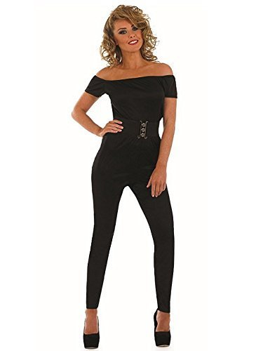 Fun Shack Damen Costume Kostüm Womens 70s Movie Sweetheart Catsuit Größe ()