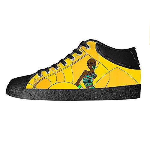 Dalliy African woman Men's Canvas shoes Schuhe Lace-up High-top Sneakers Segeltuchschuhe Leinwand-Schuh-Turnschuhe D D44LsO