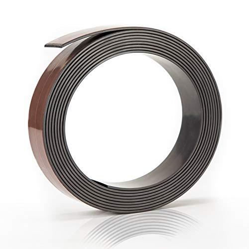 Prime Stuff Magnetband - [3m] Selbstklebende Magnetleiste mit ultra starkem Halt - Universell einsetzbarer Magnetstreifen für die Küche, Werkstatt und Co. - Magnetklebeband | Magnet selbstklebend
