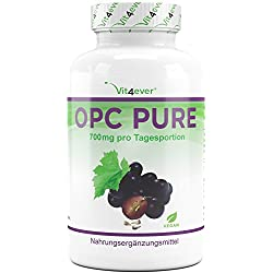 OPC Pure – 700 mg pro Tagesportion - 300 Kapseln für 5 Monate – 95% OPC Gehalt - Laborgeprüftes Premium OPC aus Weintrauben – Vegan – Ohne Zusätze – Hochdosiert - Antioxidantien - Vit4ever