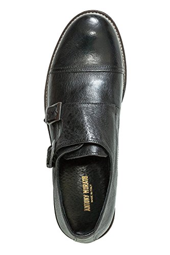 Antony Morato Herrenschuhe Slipper Business Echtleder Black (Col. 9000)