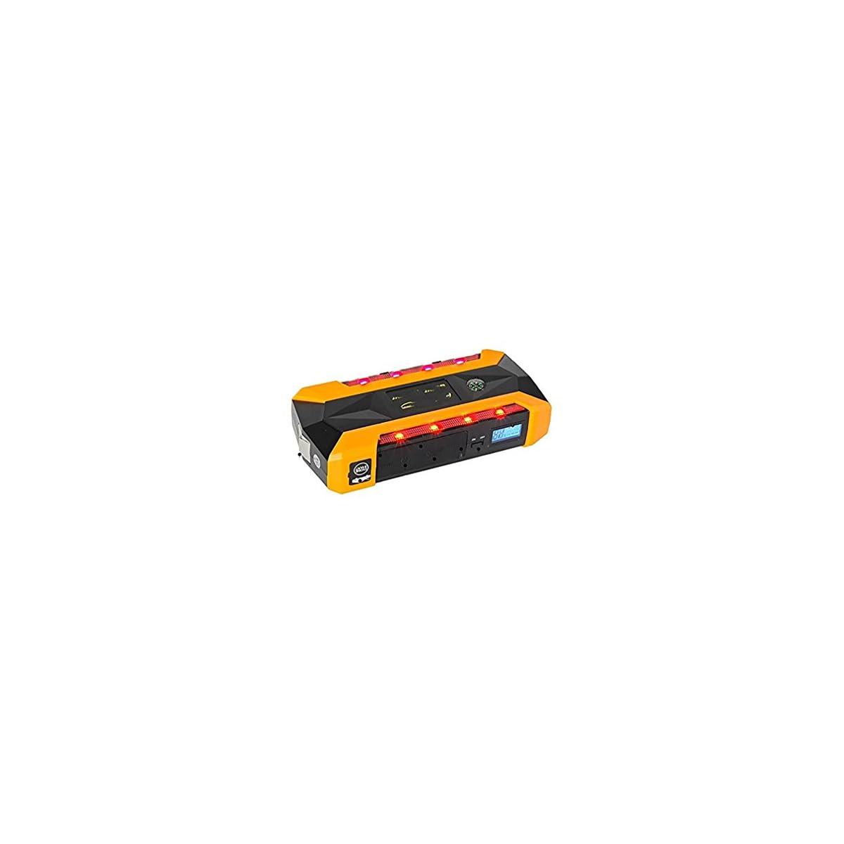 415MycsrGfL. SS1200  - WJJ- 600A Peak 22000mAh arrancador portátil de salto de coche, batería de emergencia Booster Pack, banco de energía inteligente con linterna LED, pantalla LCD y brújula