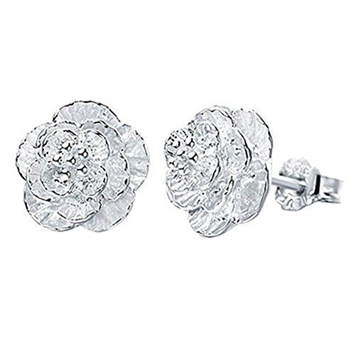 Gemini _ Mall Fashion versilbert Kirschblüten Blume die Ohrstecker Ohrringe