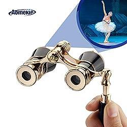 Aomekie Opernglas Theaterglas mit ausziehbarem Griff 3X Vergrößerung für Theater Konzert Pferderennen und Opera Fernglas Binoculars Feldstecher