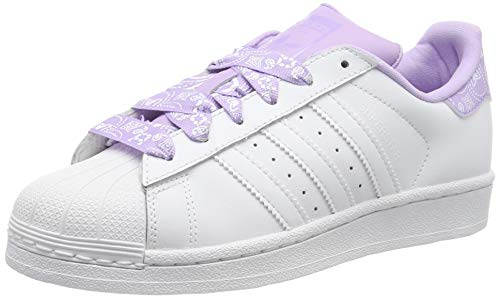 timeless design cd1ee c97fa adidas Unisex Kids  Superstar J Gymnastics Shoes, FTWR White Purple Glow, 5