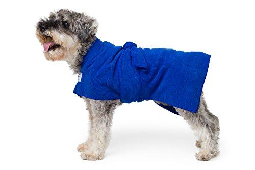 Toby and Alexander Saugfähige Hundelehre, leichte, schnell trocknende Roben sind Einfach zu benutzen, Bademantel. Geeignet für Welpen undHunde, große und kleineHandtücher. (XS, Blue)